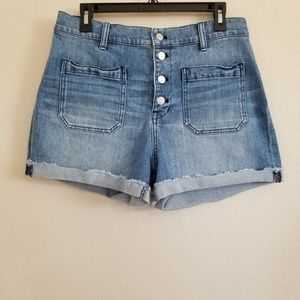 Madewell Shorts - Madewell High Rise Button Fly Denim Shorts 31